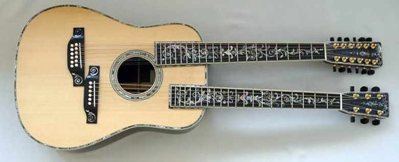 guitare acoustique double manche