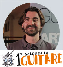 video guitare : Richard Baudry - Au salon de la guitare de la Bellevilloise 2015 avec laguitare.com