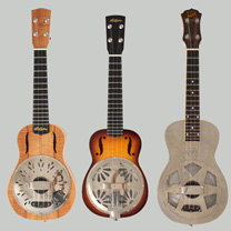 luthiers guitares et basses : Fine Resophonic Mike Lewis  - Resonator Ukuleles Comparison by Aël