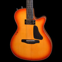 luthiers guitares et basses : Richard Baudry  - Guitare hybride au Salon de la Belle Guitare
