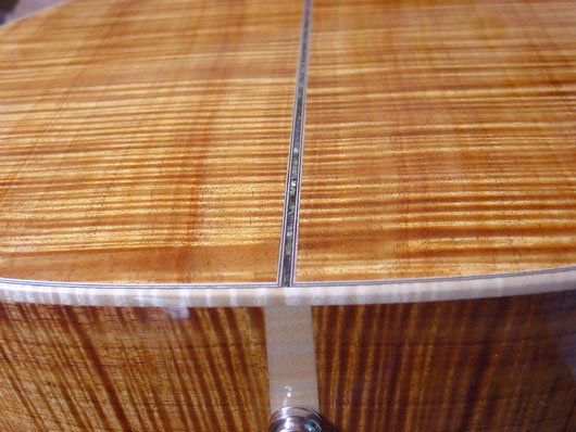 vente guitare Acoustique acier OM Koa Quéguiner